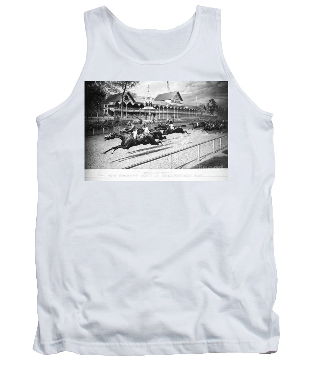 1889 Tank Top featuring the photograph Horse Racing, 1889 by Granger