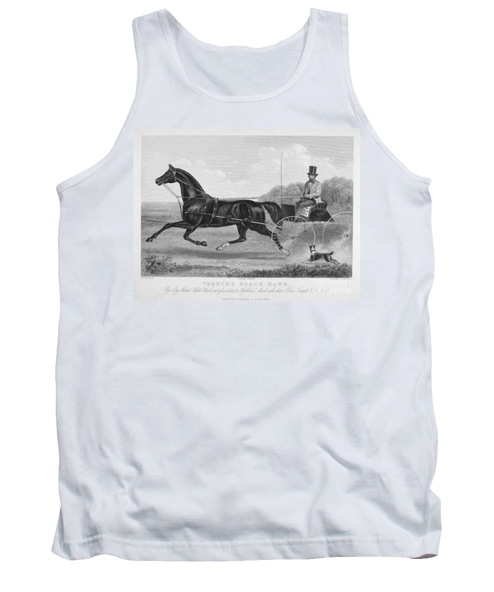 1850 Tank Top featuring the photograph Horse Racing, C1850 by Granger