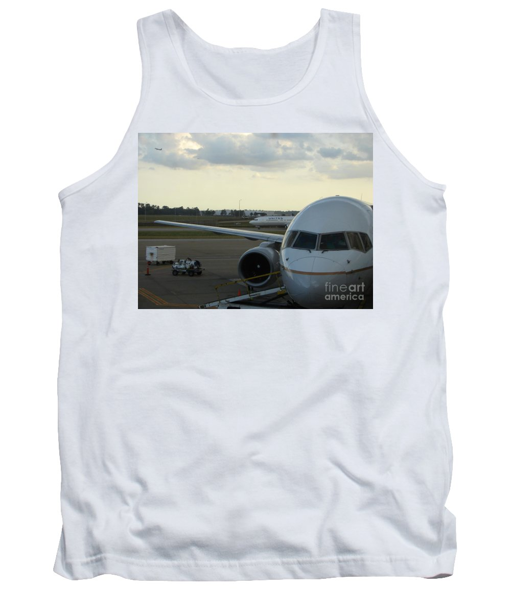 Airplane Tank Top featuring the photograph Houston by Priscilla Richardson