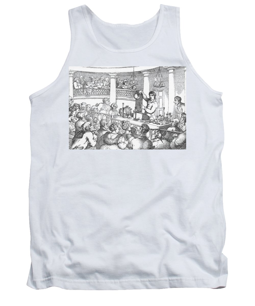 Science Tank Top featuring the photograph Humphrey Davy Lecturing, 1809 by Science Source
