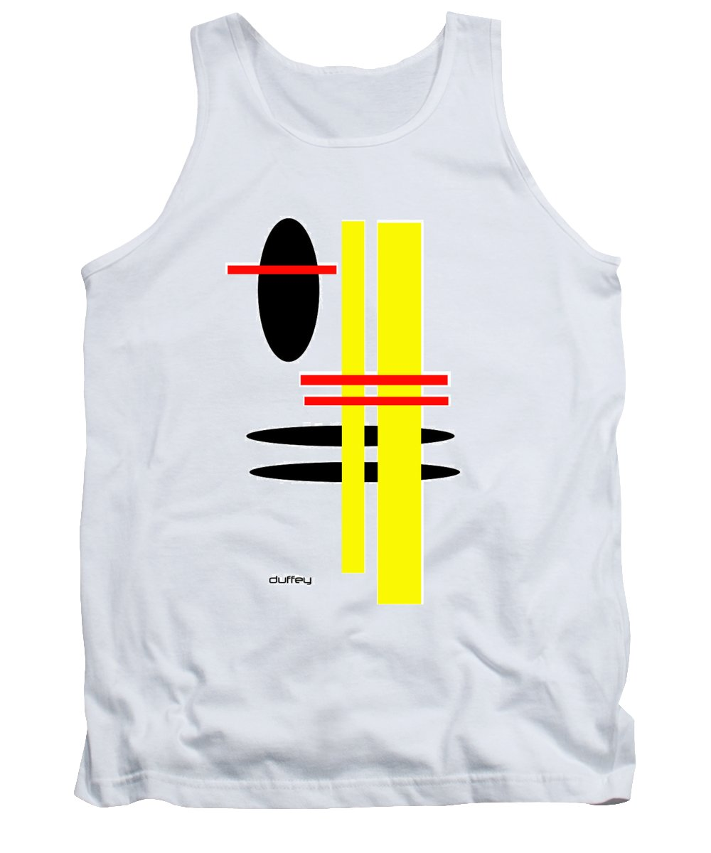 Post Constructivism/geometric Digital Drawings Tank Top featuring the photograph I Ching 7 by Doug Duffey