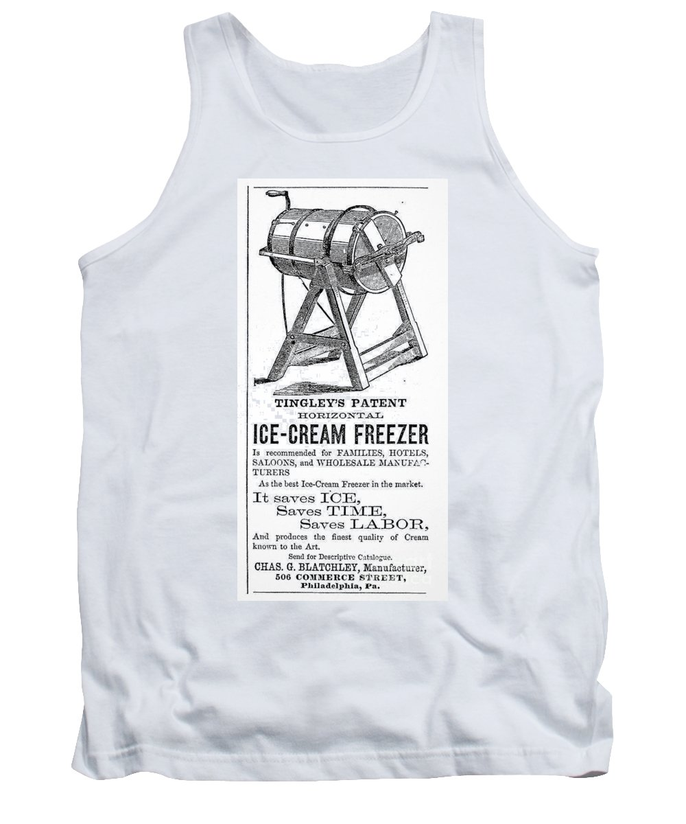 1872 Tank Top featuring the photograph Ice Cream Freezer, 1872 by Granger