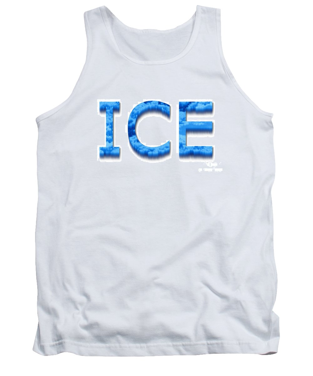 Abstract Tank Top featuring the digital art Ice by Henrik Lehnerer