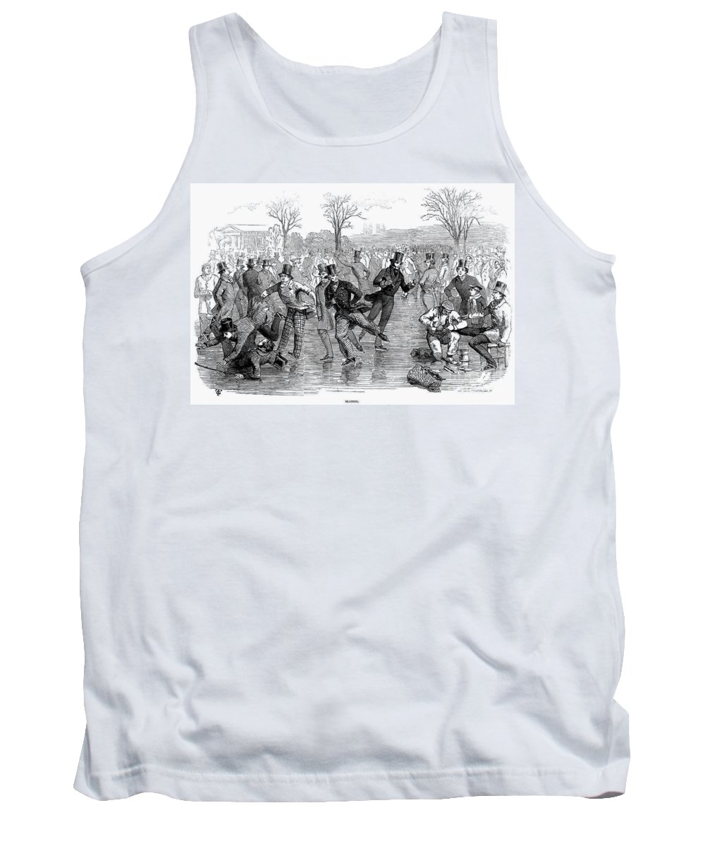 1847 Tank Top featuring the photograph Ice Skating, 1847 by Granger