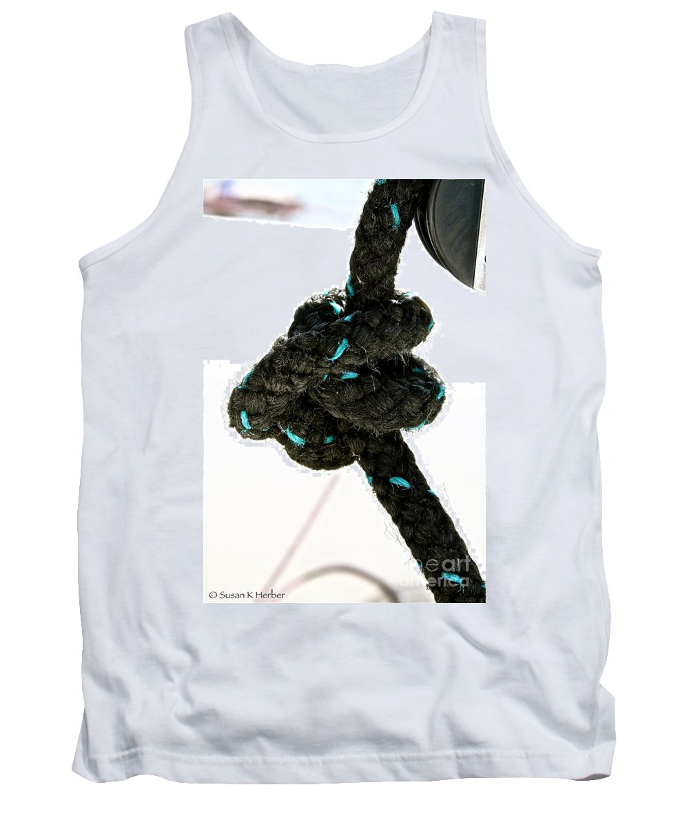 Knot Tank Top featuring the photograph Ina Knot by Susan Herber