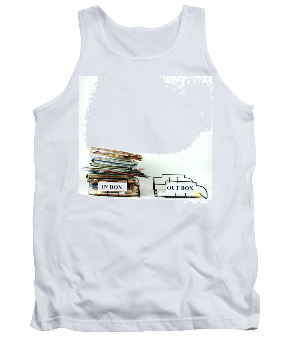 Inbox Tank Top featuring the photograph Inbox And Outbox by Photo Researchers, Inc.