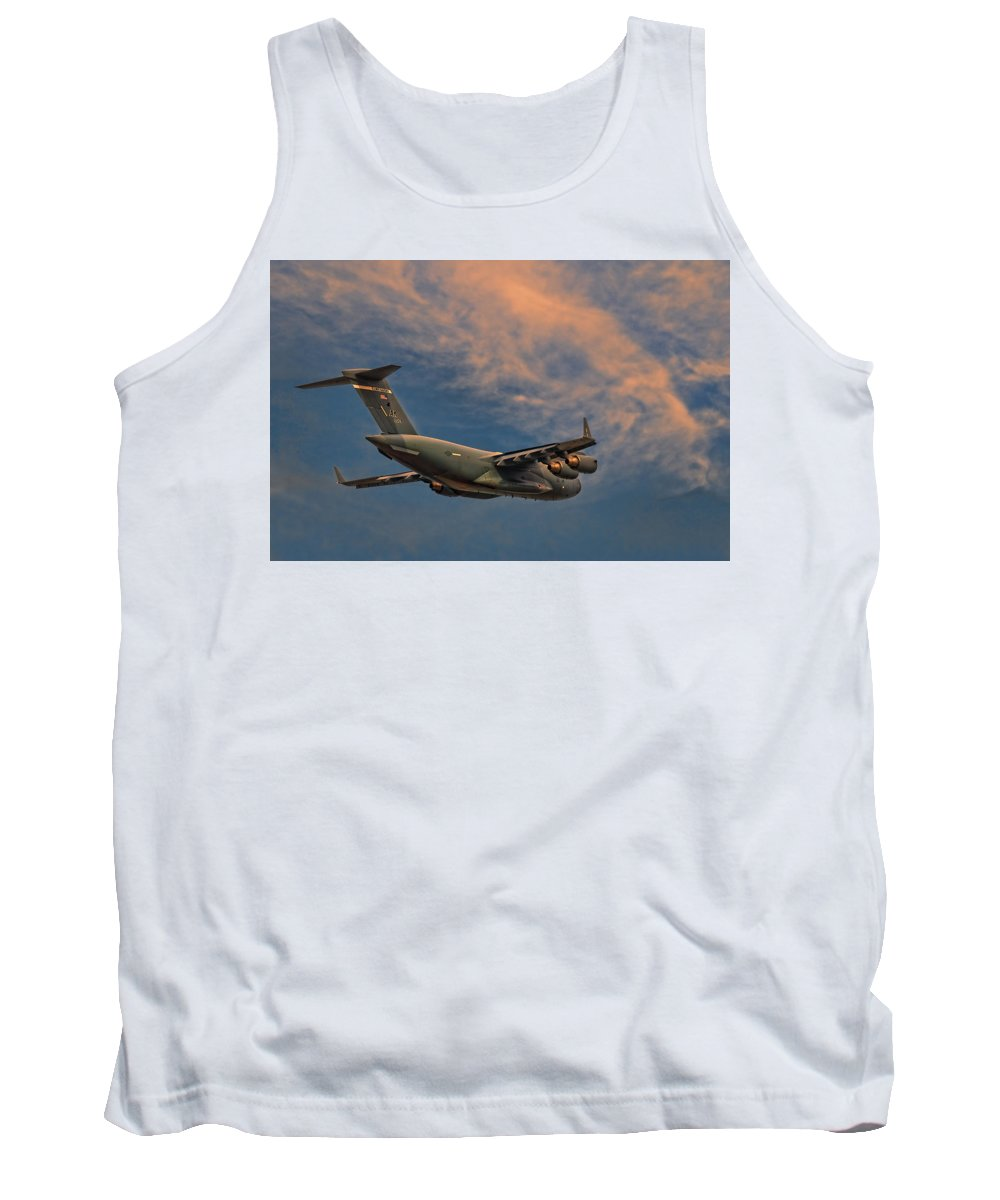 Elmendorf Tank Top featuring the photograph Into The Sunset by Steven Richardson