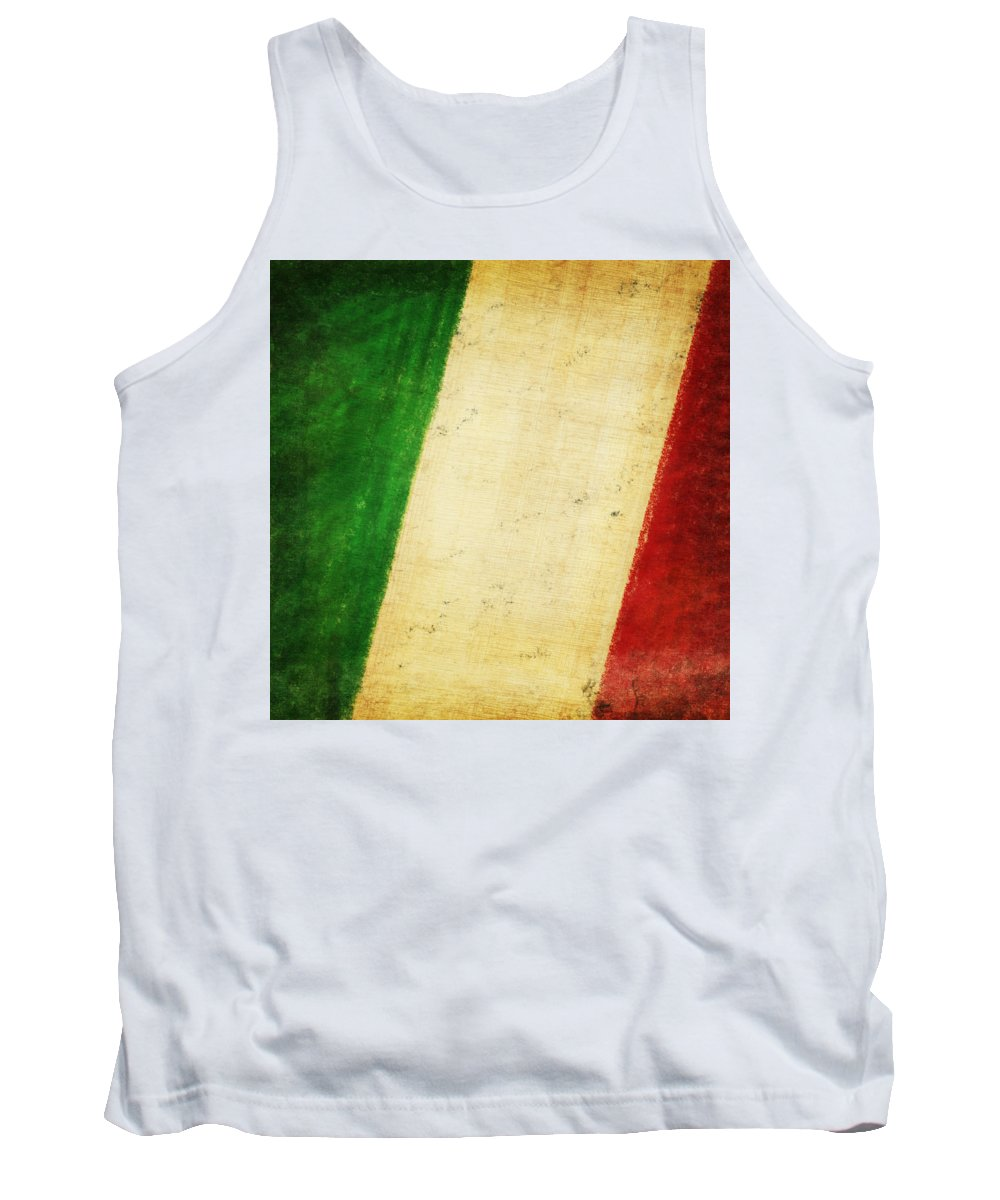Antique Tank Top featuring the photograph Italy Flag by Setsiri Silapasuwanchai