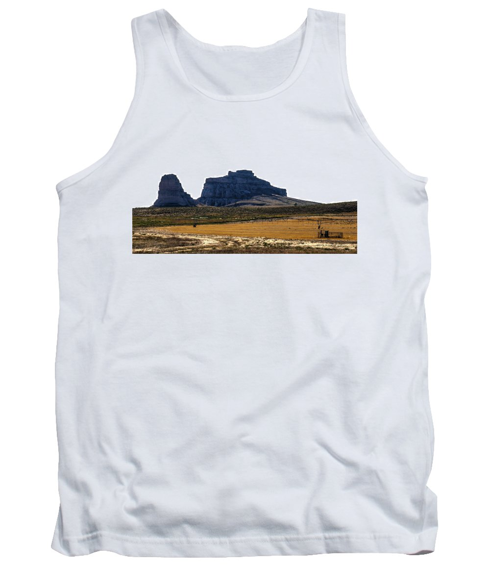 Western Nebraska Tank Top featuring the photograph Jailhouse Rock And Courthouse Rock by Edward Peterson