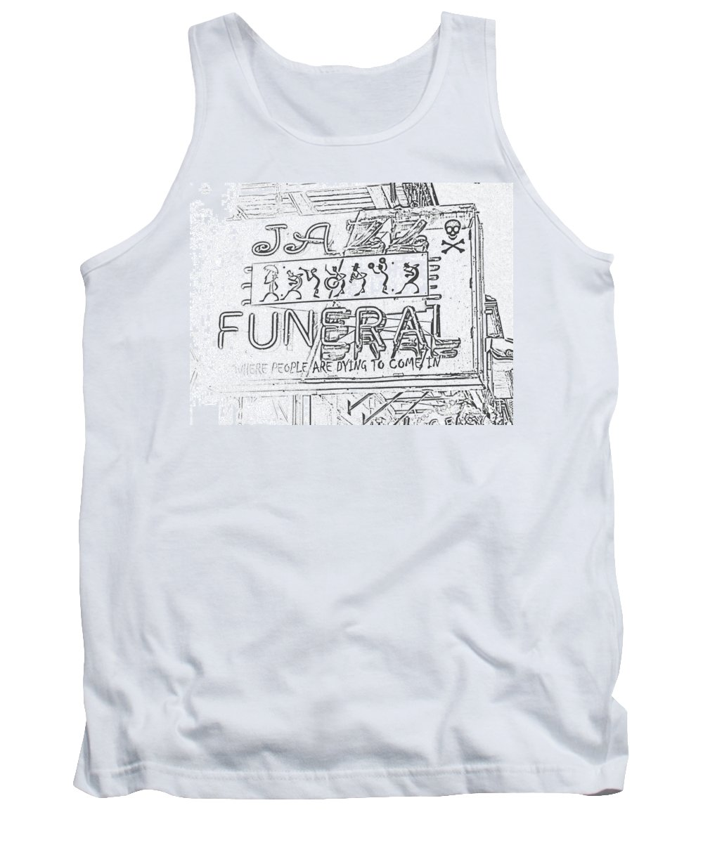 Religious Tank Top featuring the photograph Jazz Funeral Sketch by Jim Chamberlain