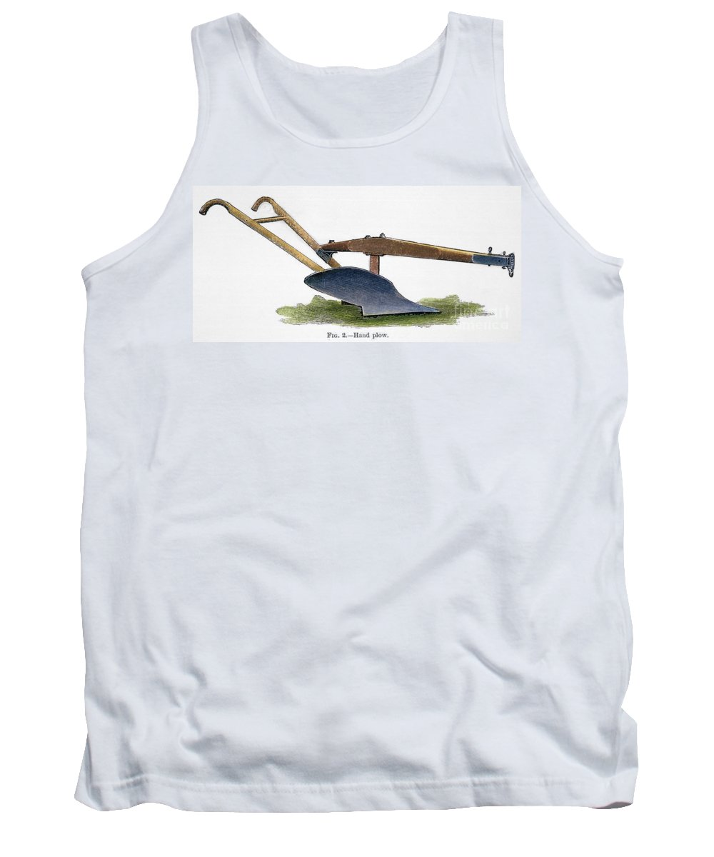 19th Century Tank Top featuring the photograph John Deere Plow by Granger