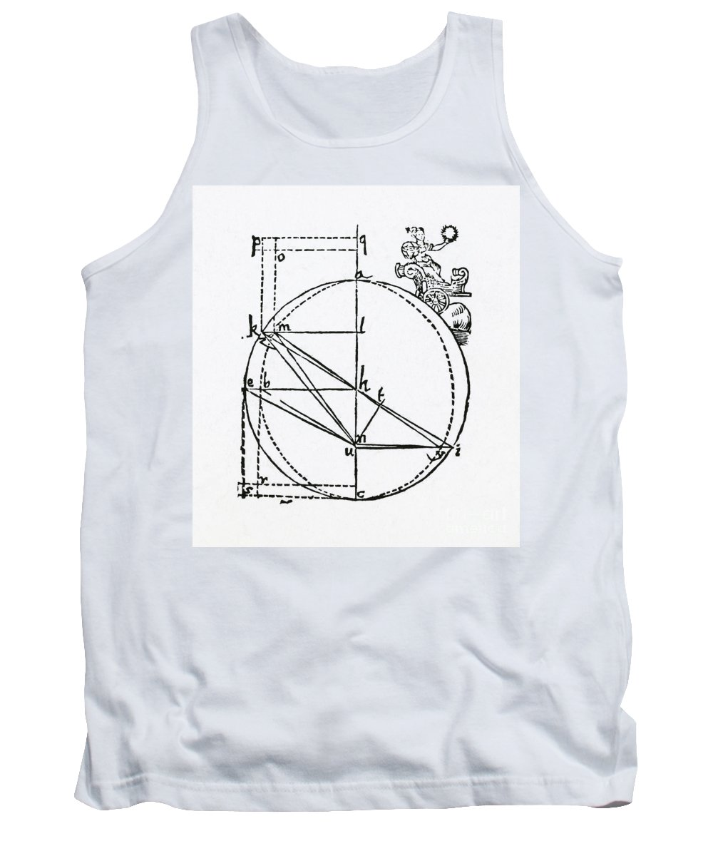 Johannes Kepler Tank Top featuring the photograph Keplers Mars Orbit Drawing by Science Source