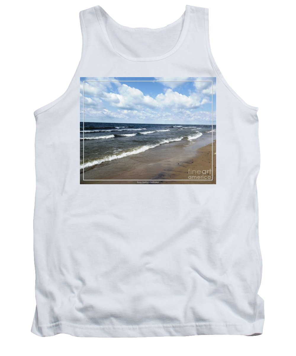Evangola State Park Tank Top featuring the photograph Lake Erie At Evangola State Park by Rose Santuci-Sofranko