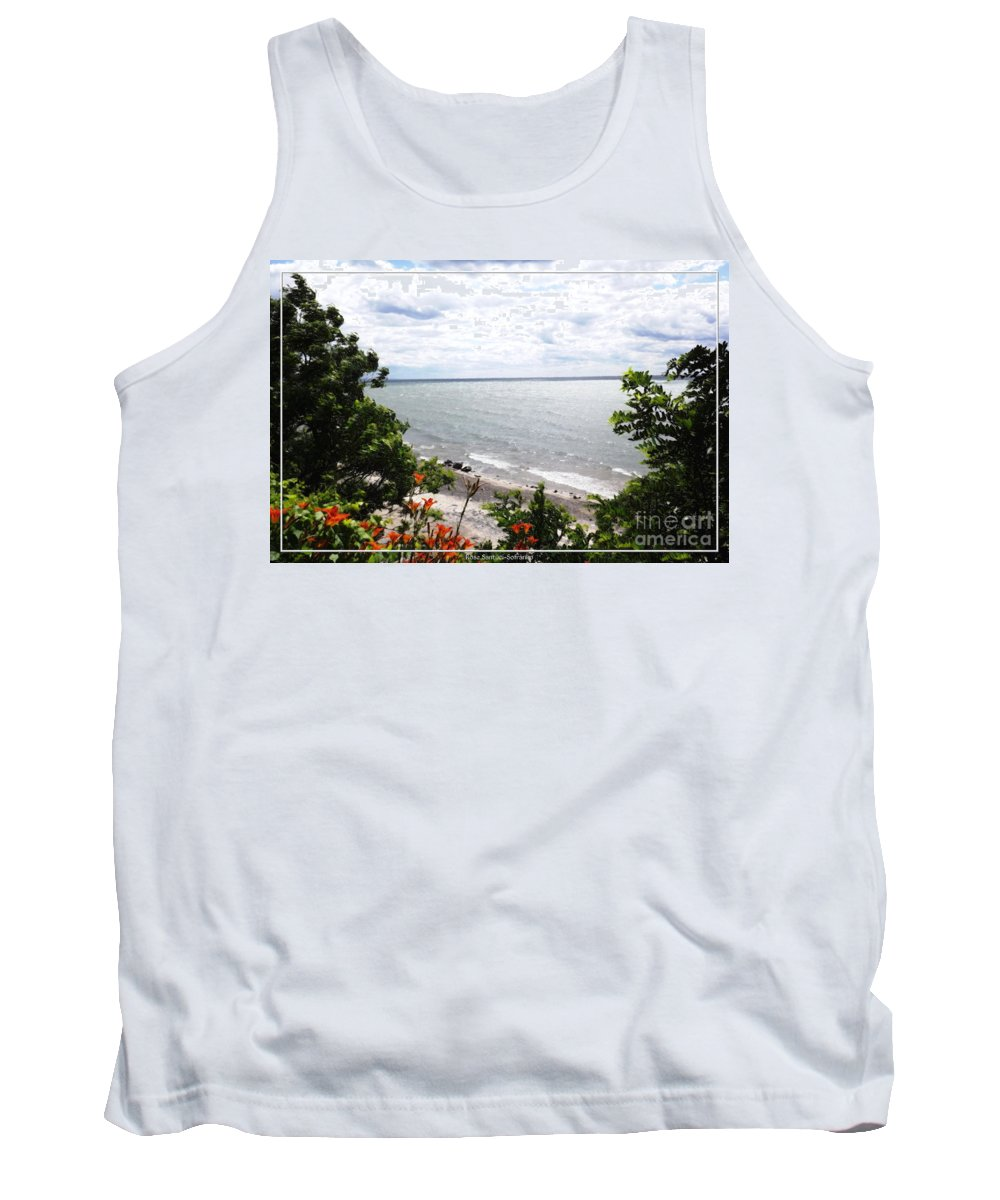 Sturgeon Point Tank Top featuring the photograph Lake Erie Beach At Sturgeon Point by Rose Santuci-Sofranko