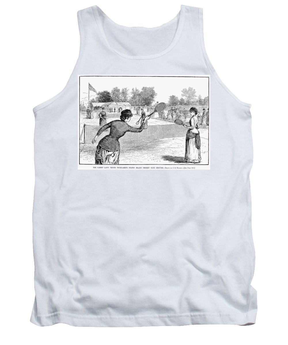 1883 Tank Top featuring the photograph Lawn Tennis, 1883 by Granger