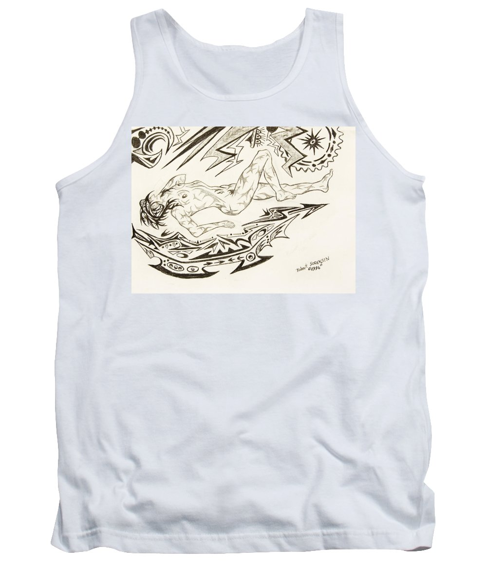 Live Nude Tank Top featuring the painting Live Nude Female No. 35 by Robert SORENSEN