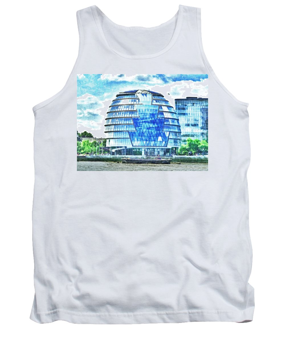 River Tank Top featuring the photograph London's City Hall by Steve Taylor