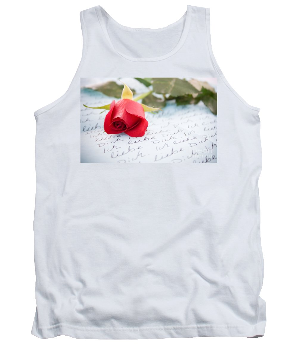 Letter Tank Top featuring the photograph Love by Kati Finell