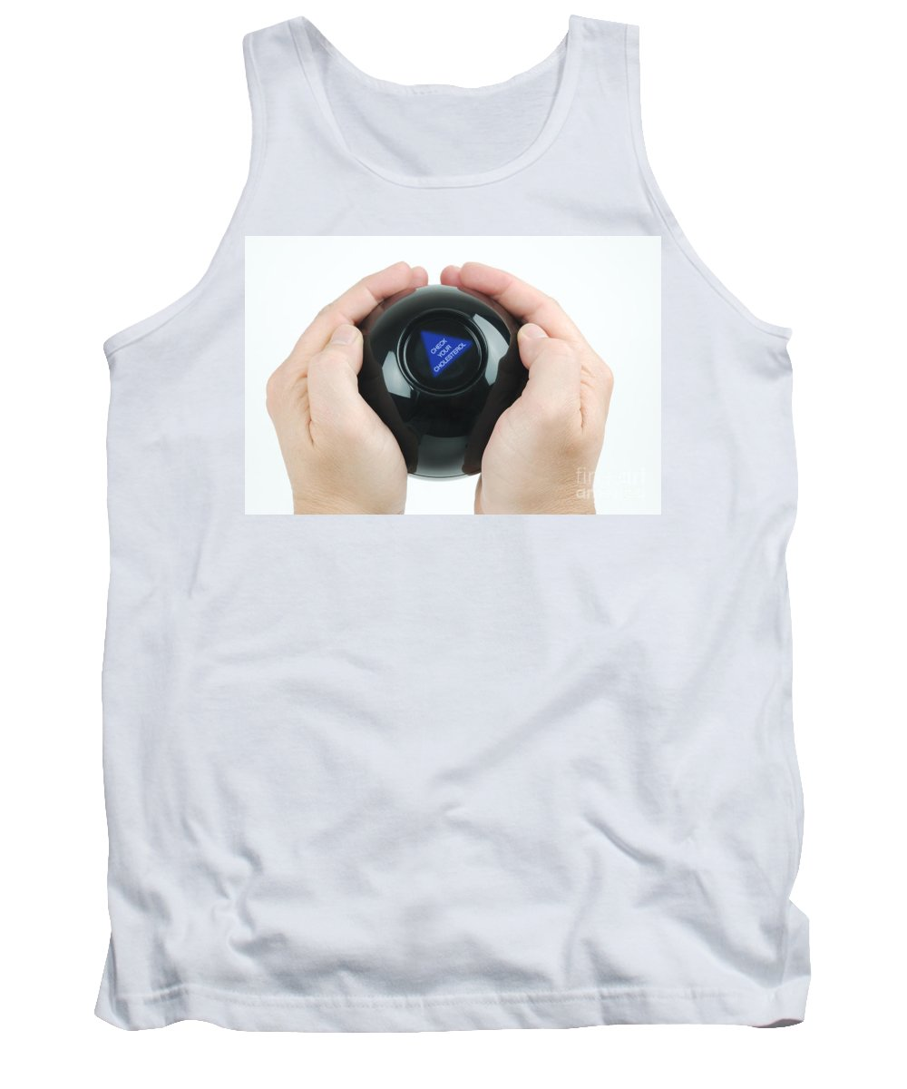 Magic Eight Ball Tank Top featuring the photograph Magic Eight Ball, Check Your Cholesterol by Photo Researchers, Inc.