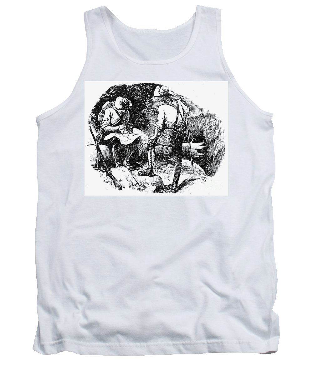 1760s Tank Top featuring the photograph Mason And Dixon, 1763-67 by Granger