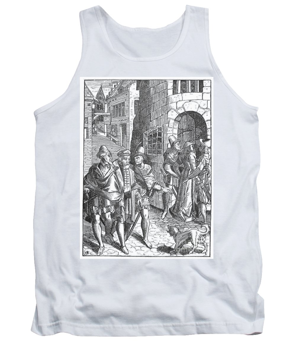 1557 Tank Top featuring the photograph Medieval Prison, 1557 by Granger