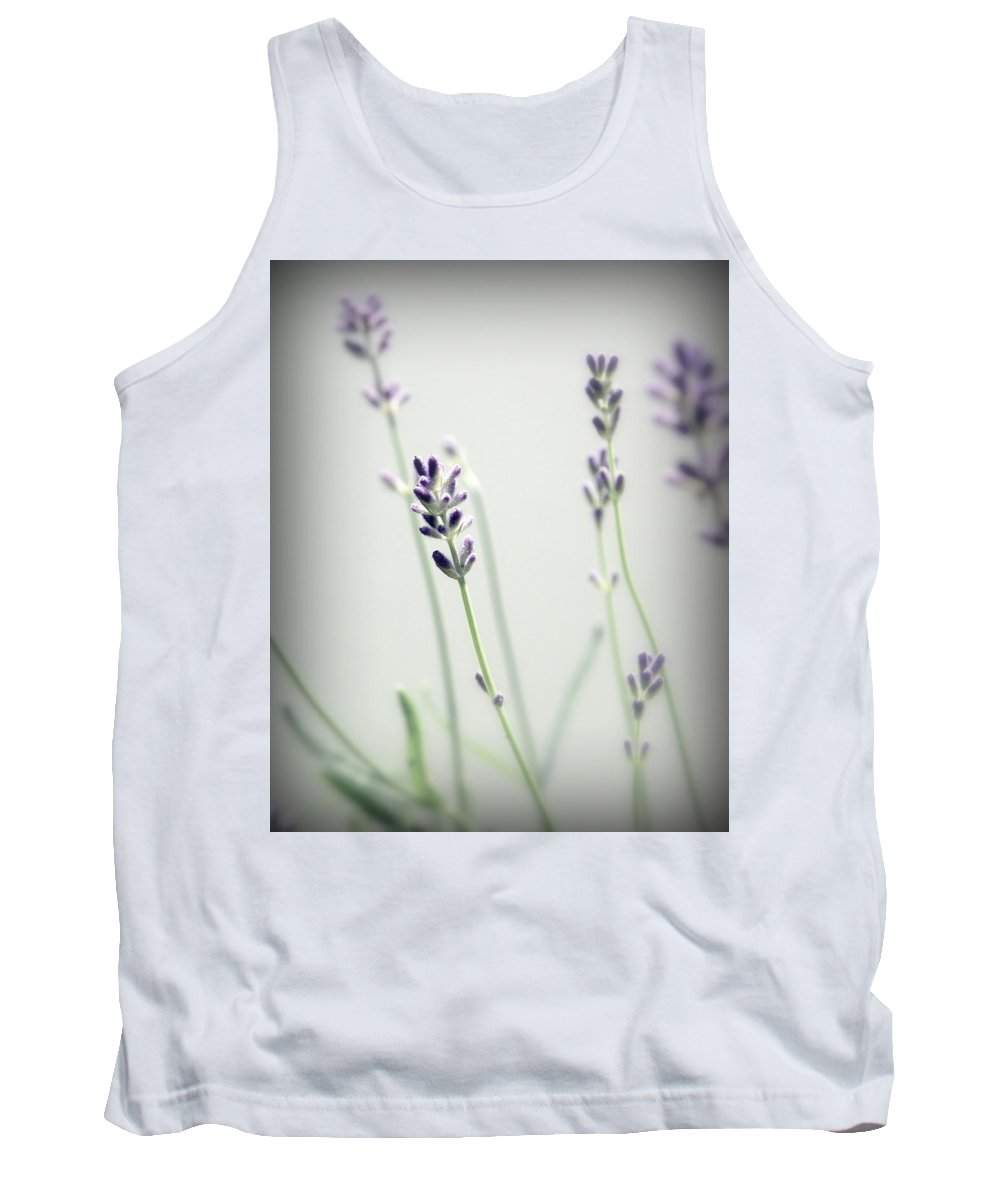 Lavender Stems Tank Top featuring the photograph Memories Of Provence by Brooke T Ryan