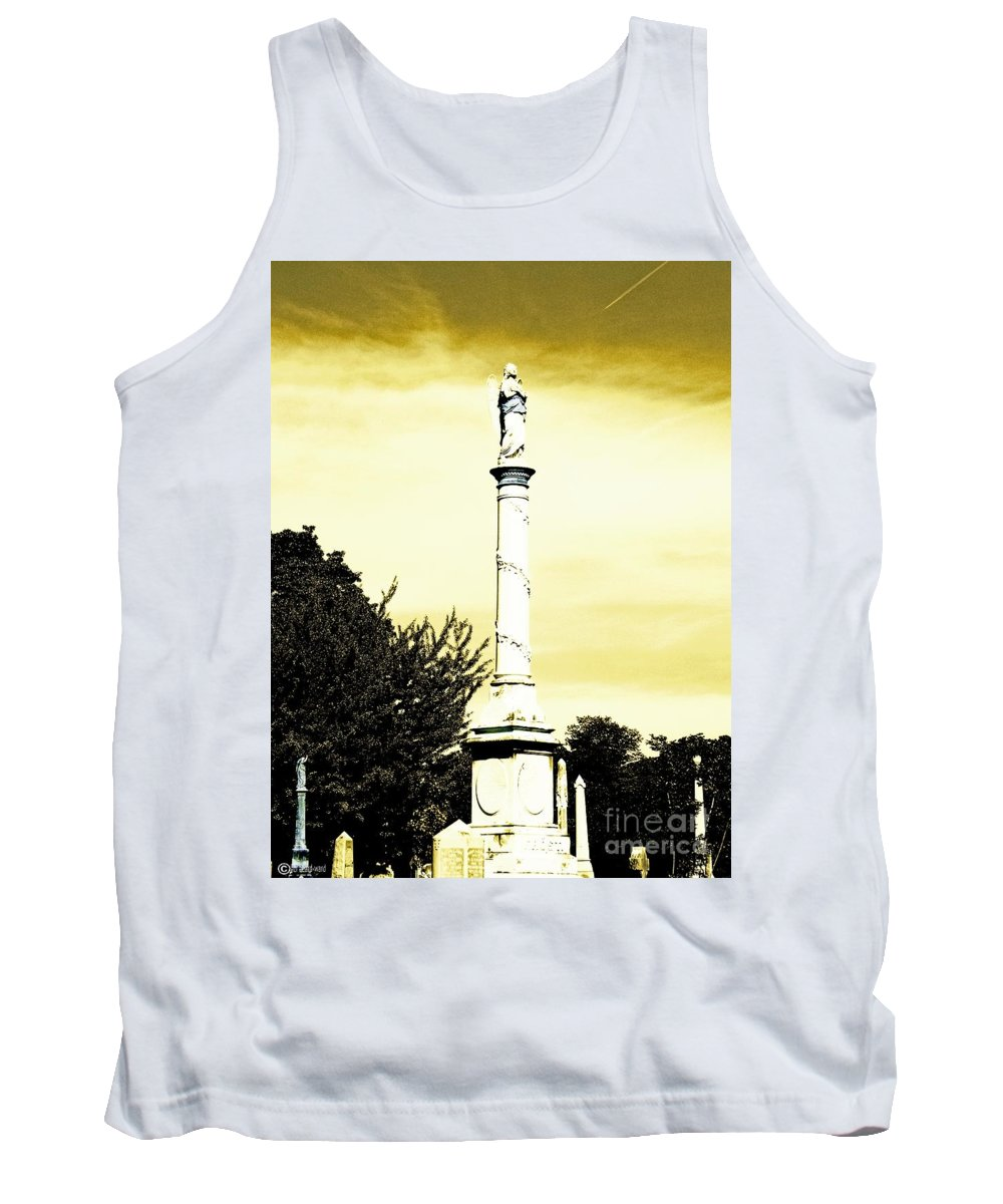 Cemetary Tank Top featuring the photograph Message by Lizi Beard-Ward