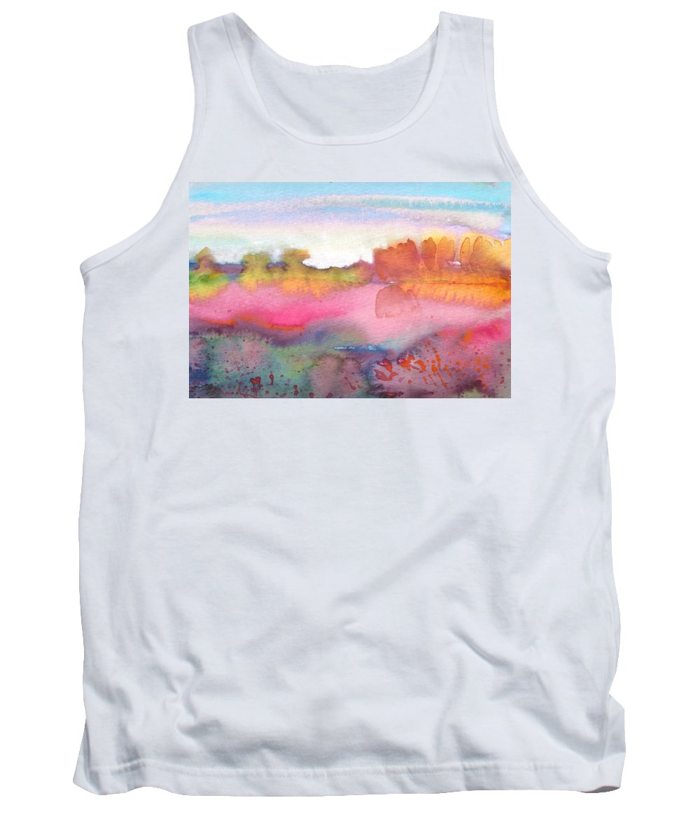 Watercolour Tank Top featuring the painting Midday 25 by Miki De Goodaboom