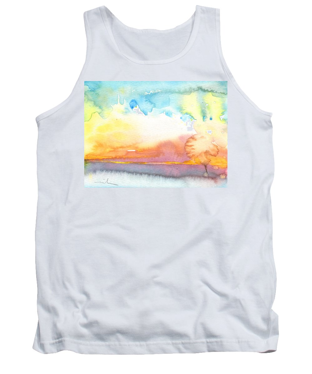 Watercolour Tank Top featuring the painting Midday 26 by Miki De Goodaboom