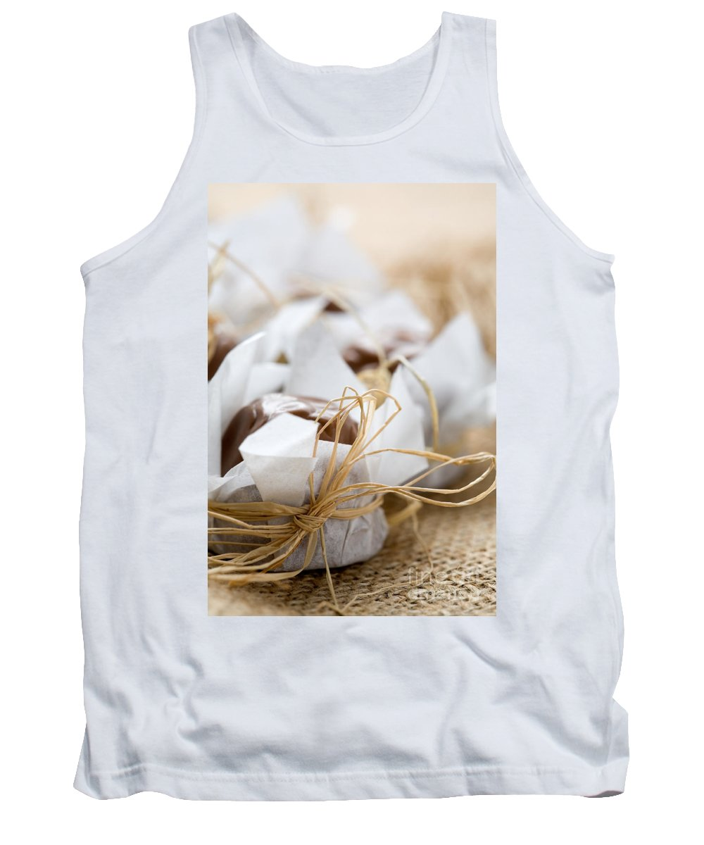 Chocolate Tank Top featuring the photograph Milk Chocolate by Kati Finell