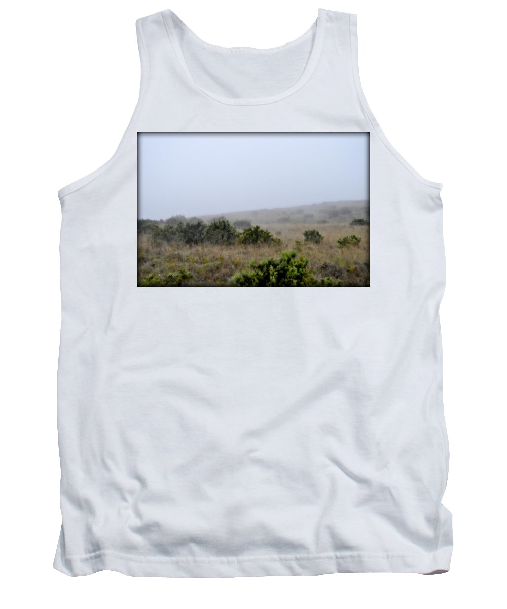 Interior Design Tank Top featuring the photograph Mists Between The Hills by Paulette B Wright