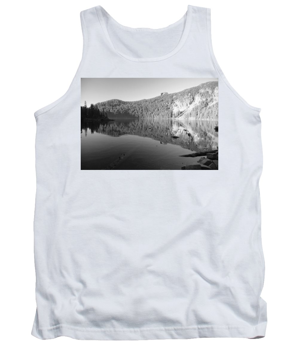 Mowich Tank Top featuring the photograph Mowich Lake Mono Print by Michael Merry
