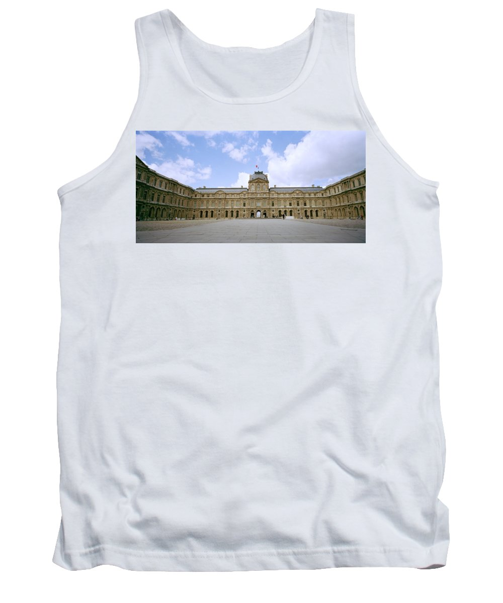 Paris Tank Top featuring the photograph The Louvre by Shaun Higson