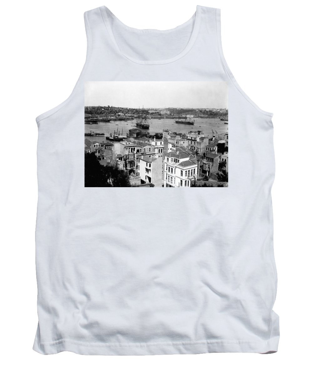 naval Arsenal Tank Top featuring the photograph Naval Arsenal And The Golden Horn - Ottoman Empire - Turkey by International Images