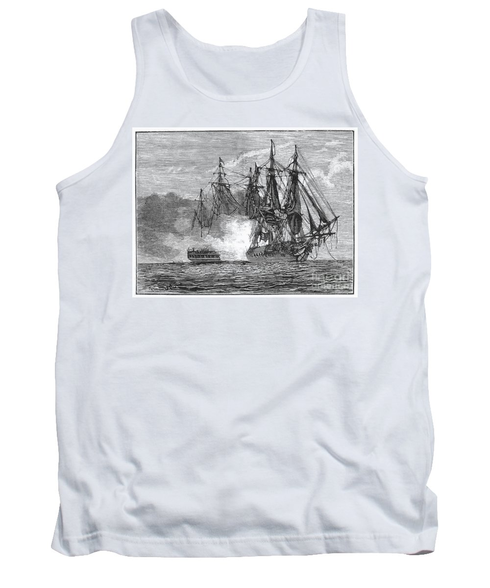 1813 Tank Top featuring the photograph Naval Battle, 1813 by Granger
