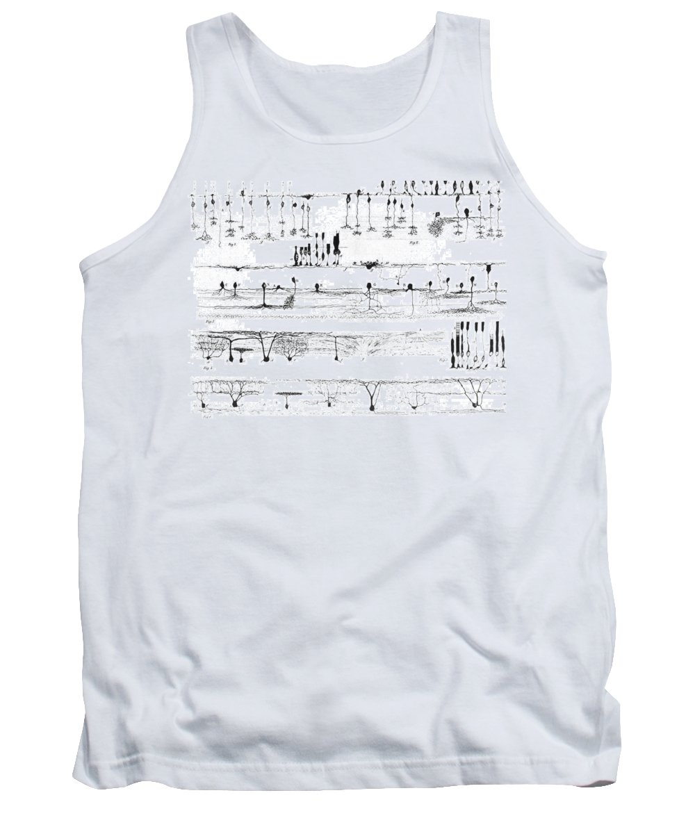 Science Tank Top featuring the photograph Nerve Structure Of The Retina by Science Source