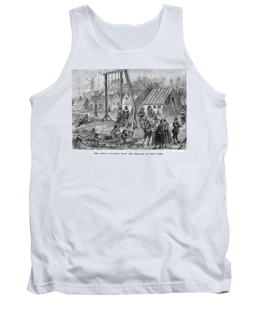 17th Century Tank Top featuring the photograph New Amsterdam: Trade by Granger