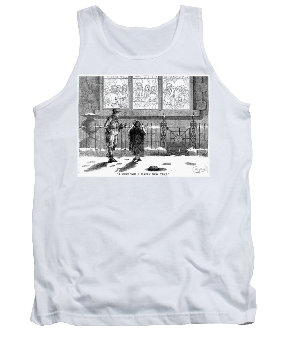 1859 Tank Top featuring the photograph New Years Eve, 1859 by Granger