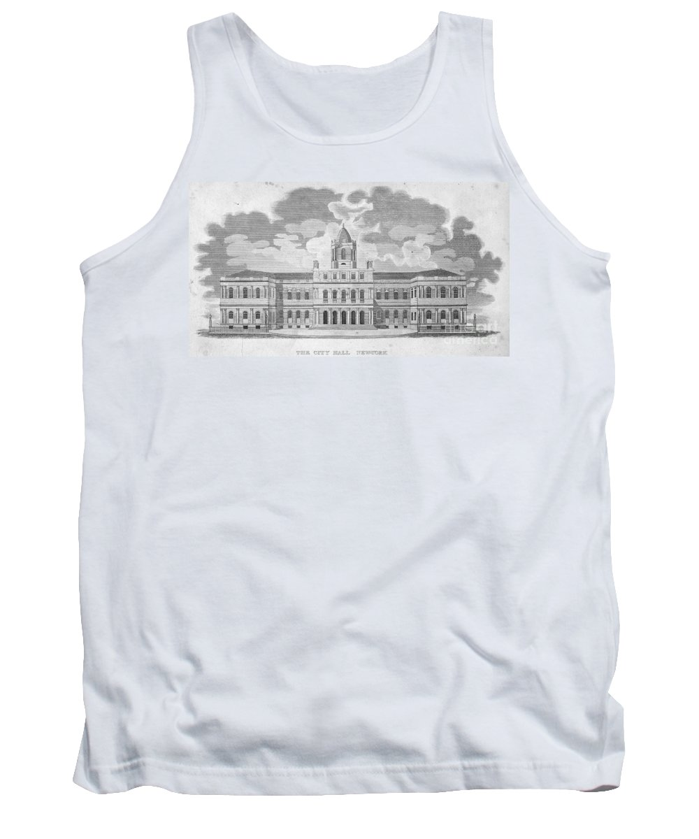 1829 Tank Top featuring the photograph New York: City Hall, C1829 by Granger