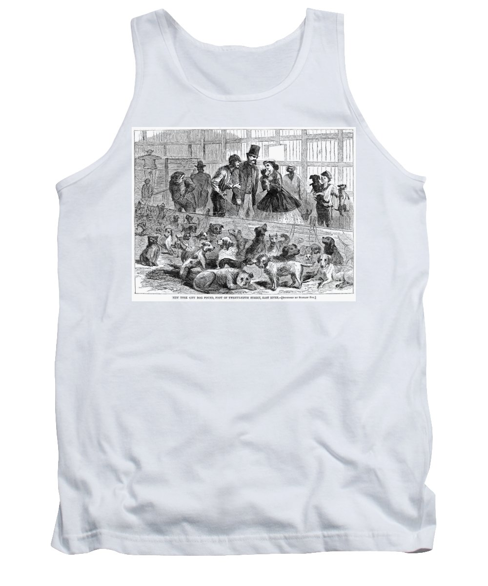 1866 Tank Top featuring the photograph New York: Dog Pound, 1866 by Granger