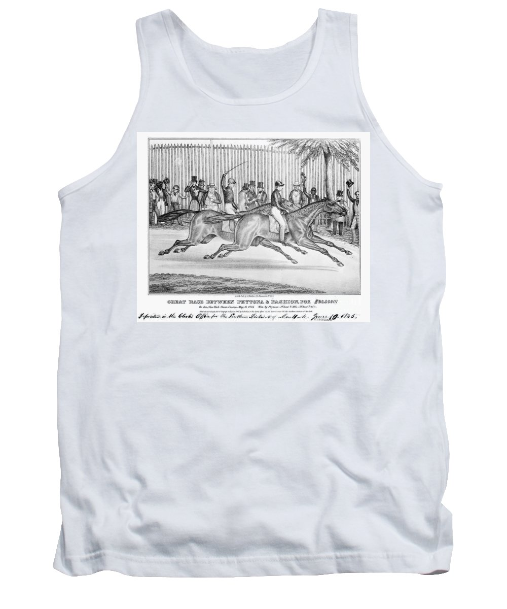 1845 Tank Top featuring the photograph New York: Horse Race, 1845 by Granger