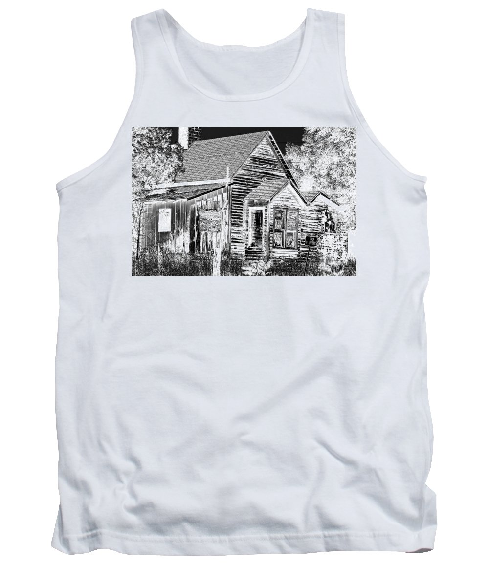 House Tank Top featuring the photograph No Trespassing by Phyllis Denton