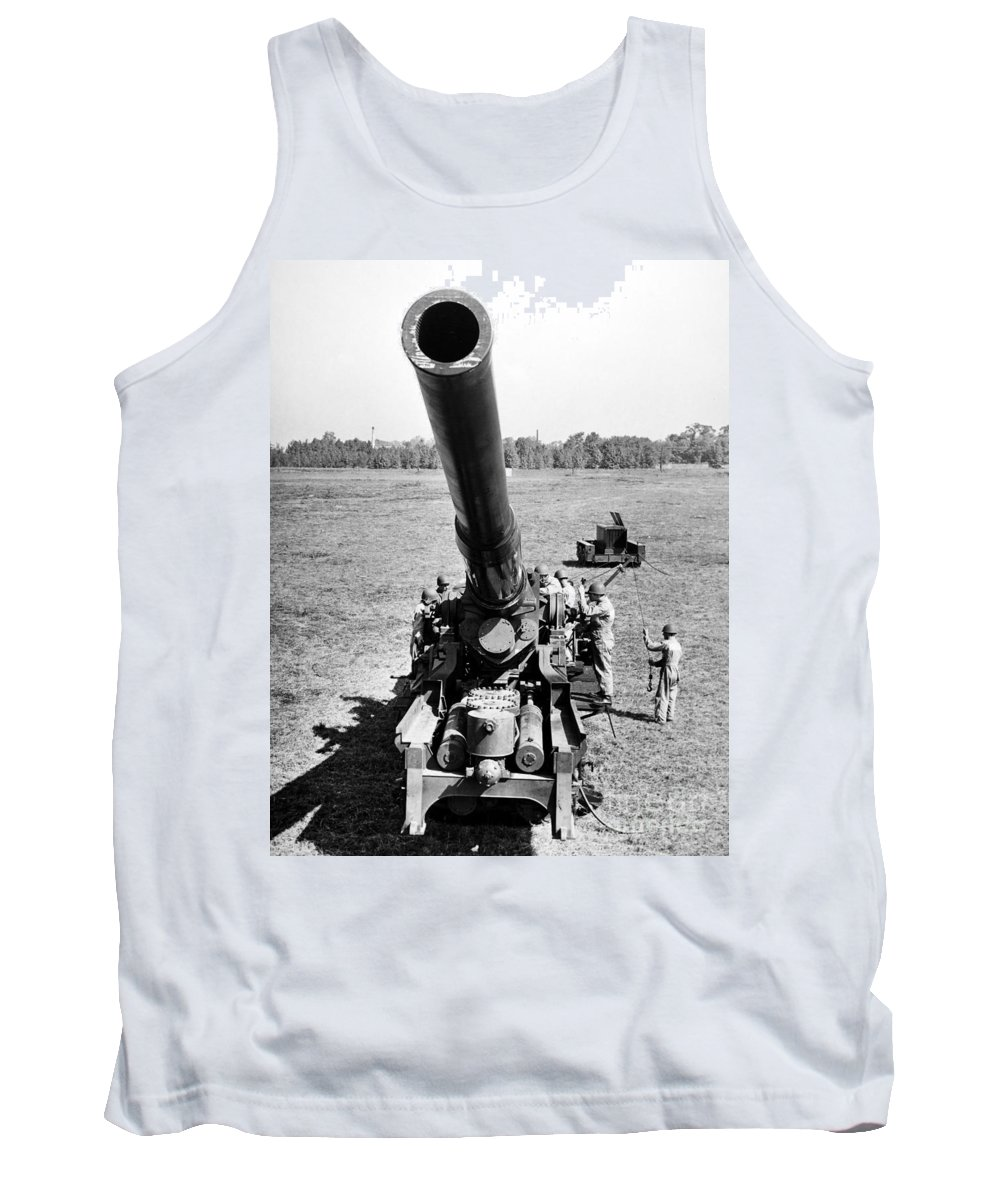 1952 Tank Top featuring the photograph Nuclear Artillery, 1952 by Granger