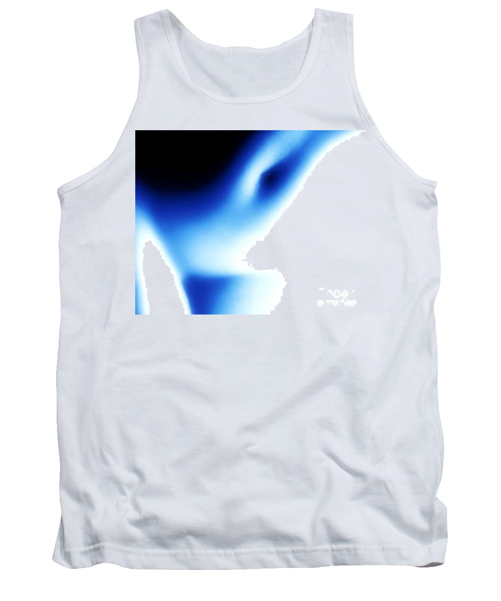 Young Tank Top featuring the photograph Nude Torso Blue Black by Brian Raggatt