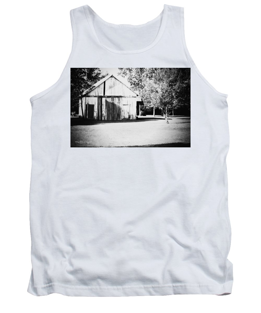 Nature Tank Top featuring the photograph Ohio Shed Bw by Paulette B Wright