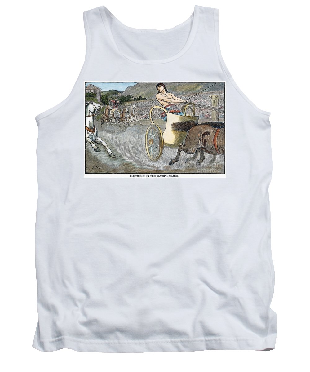6th Century B.c Tank Top featuring the photograph Olympic Games, Antiquity by Granger