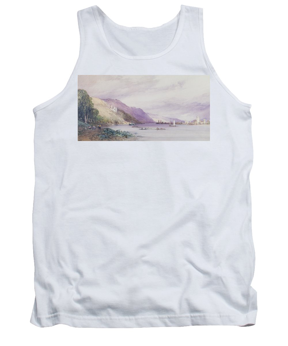 Landscape; German; Boats; Share; Town Tank Top featuring the painting On The Rhine by William Callow