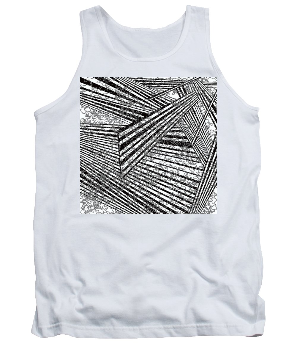One Tank Top featuring the painting One 49 by Douglas Christian Larsen