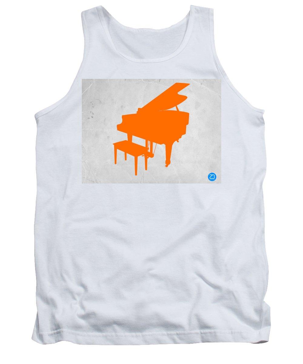 Piano Tank Top featuring the photograph Orange Piano by Naxart Studio