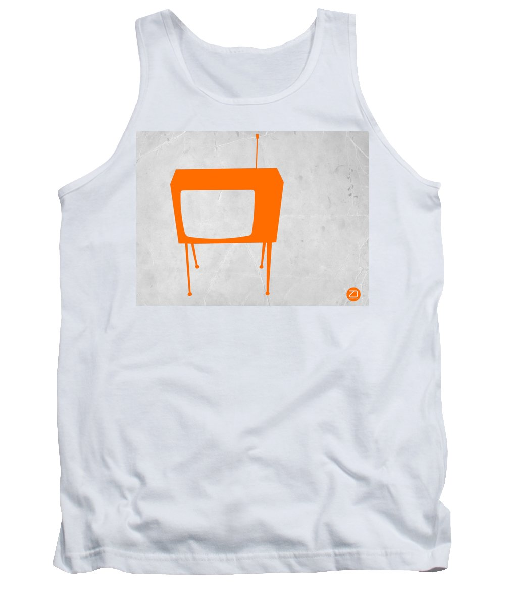 Kids Art Tank Top featuring the digital art Orange Tv by Naxart Studio